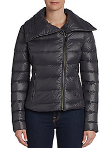 Saks Fifth Avenue BLUE Aviator Puffer Jacket