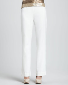 Joan Vass Ponte Boot-Cut Pants