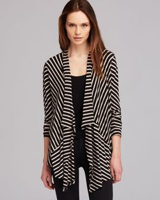Calvin Klein Striped Flyaway Cardigan
