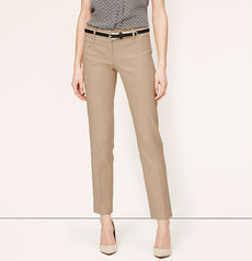 Petite Double Dobby Ankle Pants in Zoe Fit