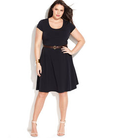 MICHAEL Michael Kors Plus Size Short-Sleeve A-Line Dress
