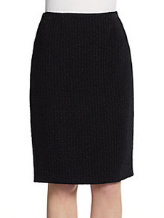 Calvin Klein Collection Basketweave Pencil Skirt