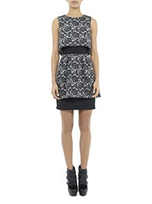 Perry Mesh Flower Dress