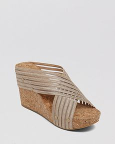 Lucky Brand Cork Wedge Platform Sandals - Miller
