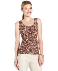 Charter Club Petite Animal-Print Tank Top