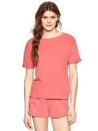Terry short-sleeve pullover