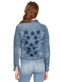 1969 print-back denim jacket