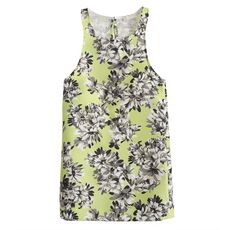 Collection racer tank in photo floral
