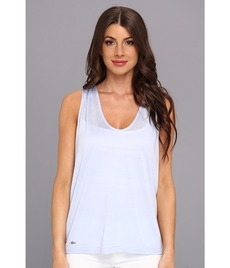 Lacoste Sleeveless Slub V-Neck Tee-Shirt