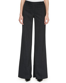 Michael Kors Pinstriped Wide-Leg Pants