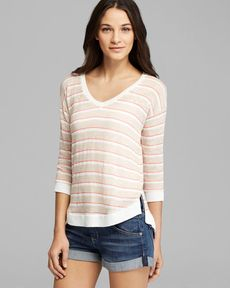 Splendid Sweater - Laguna Stripe Loose Knit