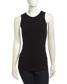 Isda & Co Stretch-Knit Tank Top, Black