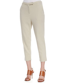 Joan Vass Ponte Knit Capri Pants, Women's