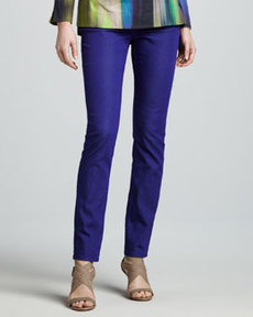 Lafayette 148 New York Purple Curvy Slim Jeans