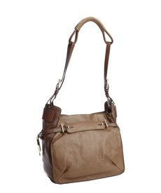 Kooba fog grey leather 'Flynn' shoulder bag