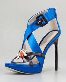 JASON WU Marisa Jeweled Platform Sandal, Blue
