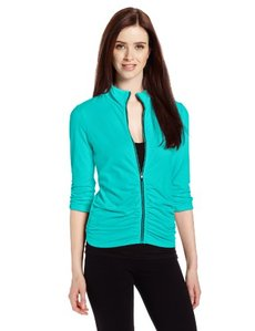 Calvin Klein Performance Women's Rouched 3/4 Sleeve Jacket