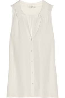 Joie Fawna silk-crepe top