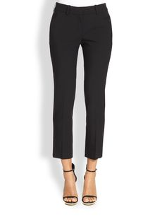 Michael Kors Skinny Wool Ankle Pants