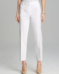 Jones New York Collection Sloane Rivet Trim Pants