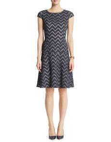 Reflection Jacquard Swing Dress