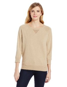 Jones New York Women's 3/4 Sleeve Crew Neck Shirt with Cvst