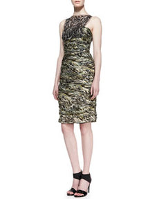 Sleeveless Lace Overlay Cocktail Dress, Moss   Sleeveless Lace Overlay Cocktail Dress, Moss