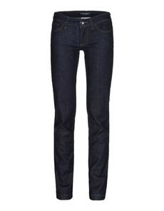 DOLCE & GABBANA Denim Solid color Dark wash Mid Rise Five pockets Tapering leg cut Logo  Stitching Fitting: Regular Raw Denim Woven not made of fur