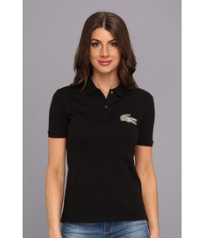 Lacoste L!VE Short Sleeve Pique Winking Croc Polo