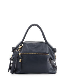 Foley + Corinna Destination Pebbled Leather Bowler, Navy