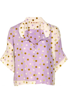 Marni Polka-dot cotton jacket