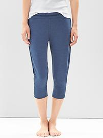 Terry slub cropped pants