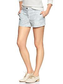 Sunkissed floral chambray shorts