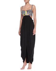 Mara Hoffman Embroidered-Bustier Cocoon Dress