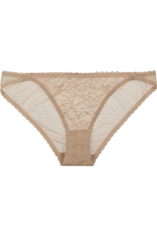 Stella McCartney Yasmin Calling stretch-lace and point d'esprit briefs