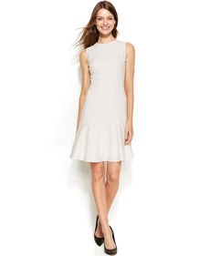 Calvin Klein Sleeveless Flip-Skirt Dress