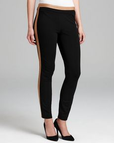 DIANE von FURSTENBERG Leggings - Leandra Leather Combo