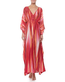 Hayworth Long Caftan, Azalea   Hayworth Long Caftan, Azalea