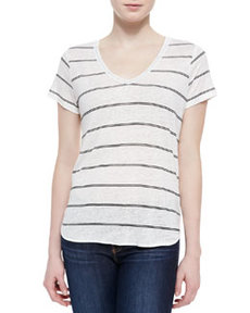 Petrella Linen Stripe Top   Petrella Linen Stripe Top