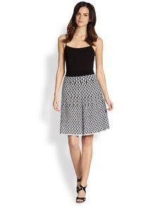 M Missoni Fan-Stitch Skirt