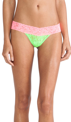 Hanky Panky Colorplay Low Rise Thong in Green