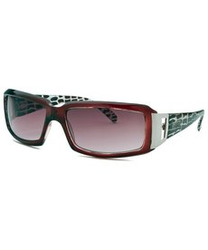 Kenneth Cole Reaction Women's Rectangle Red Sunglasses