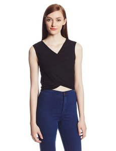 Rachel Pally Women's Rib Clarke Cross Front Crop Top