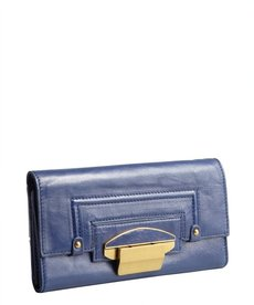 Kooba cobalt leather 'Turn Lock' wallet