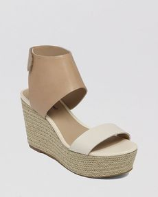 Lucky Brand Open Toe Platform Wedge Espadrille Sandals - Olla