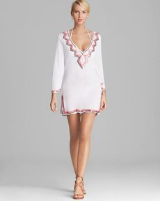 Milly Zig Zag Mirrored Paillettes Cover Up Tunic