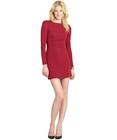 A.B.S. by Allen Schwartz crimson stretch jersey zipper open back dress
