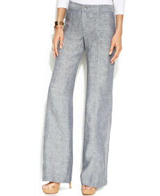 INC International Concepts Wide-Leg Linen Curvy-Fit Pants