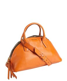 Miu Miu papaya leather convertible trapezoid tote