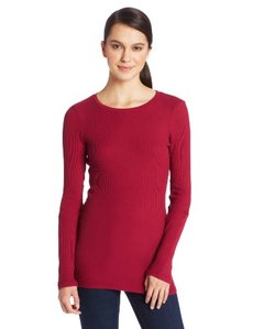 Michael Stars Women's Thermal Long Sleeve Crew Neck Shirt